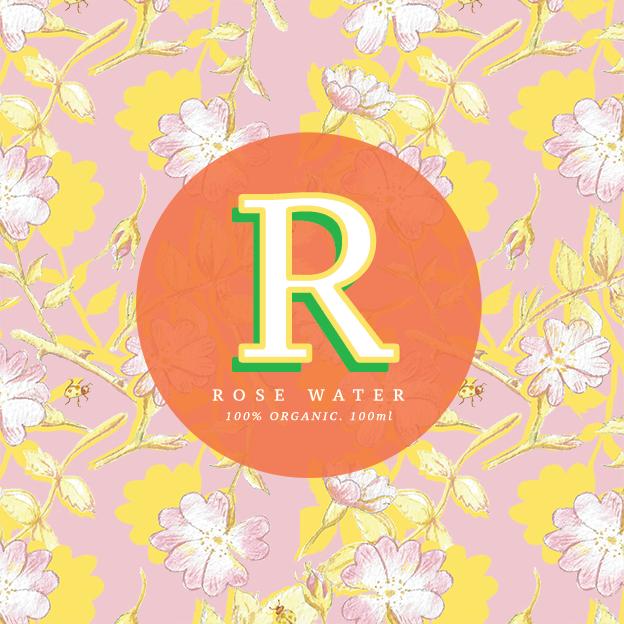 Rose Water - packaging design
